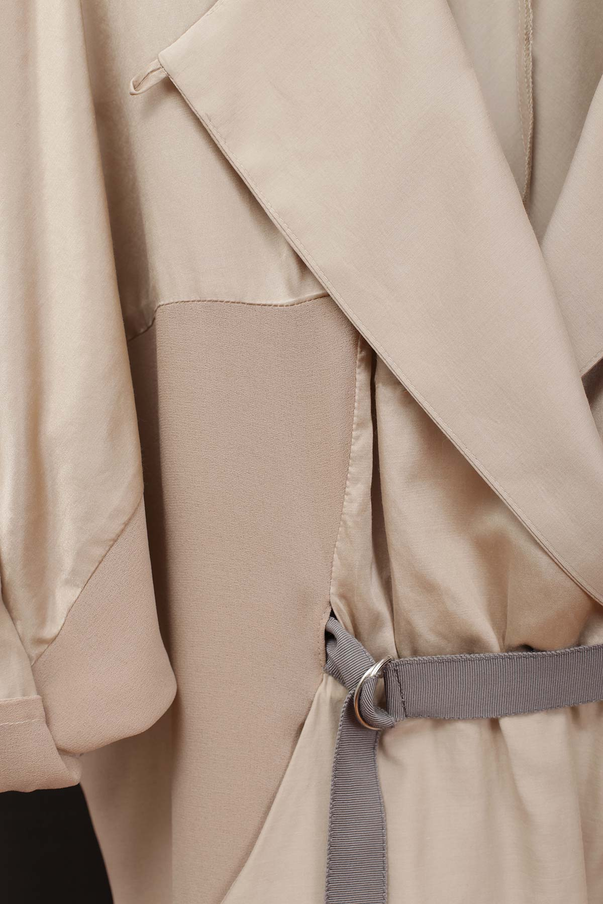 Paula Immich Kimonokleid aus Seide-Baumwolle mit Ripps-Gürtel