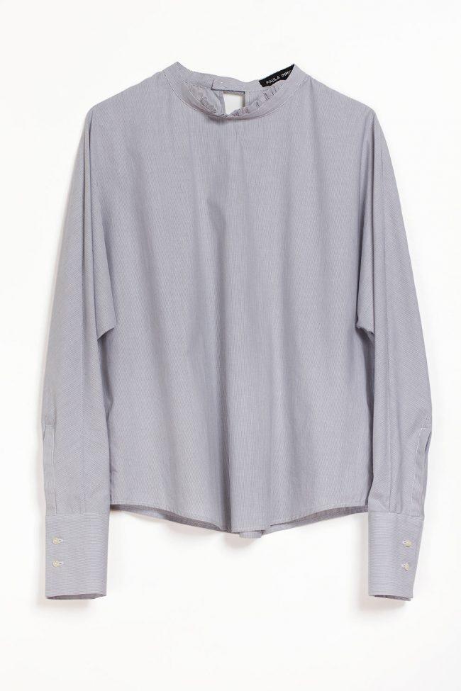 Paula immich Bluse aus italienischem Herrenhemden Stoff