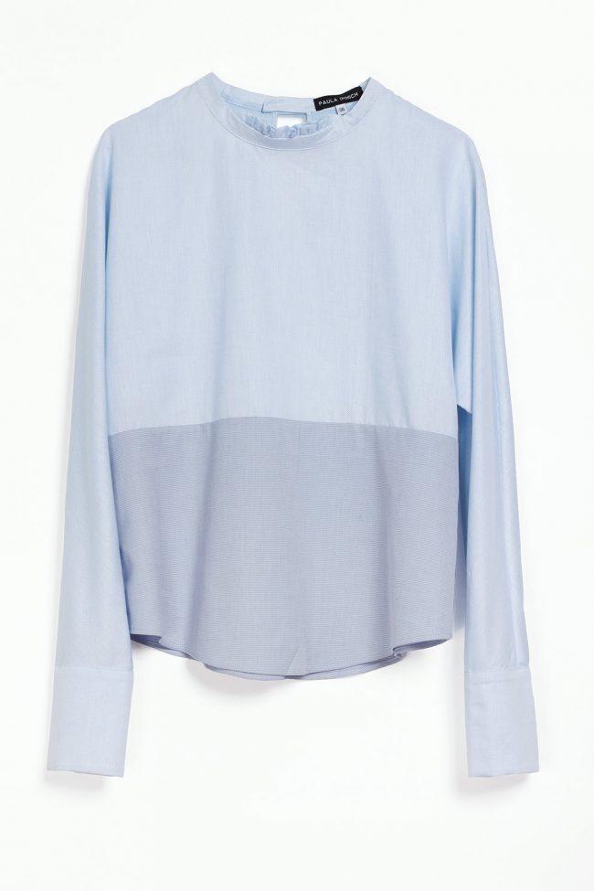 Bluse aus italienischem Hemdenstoff