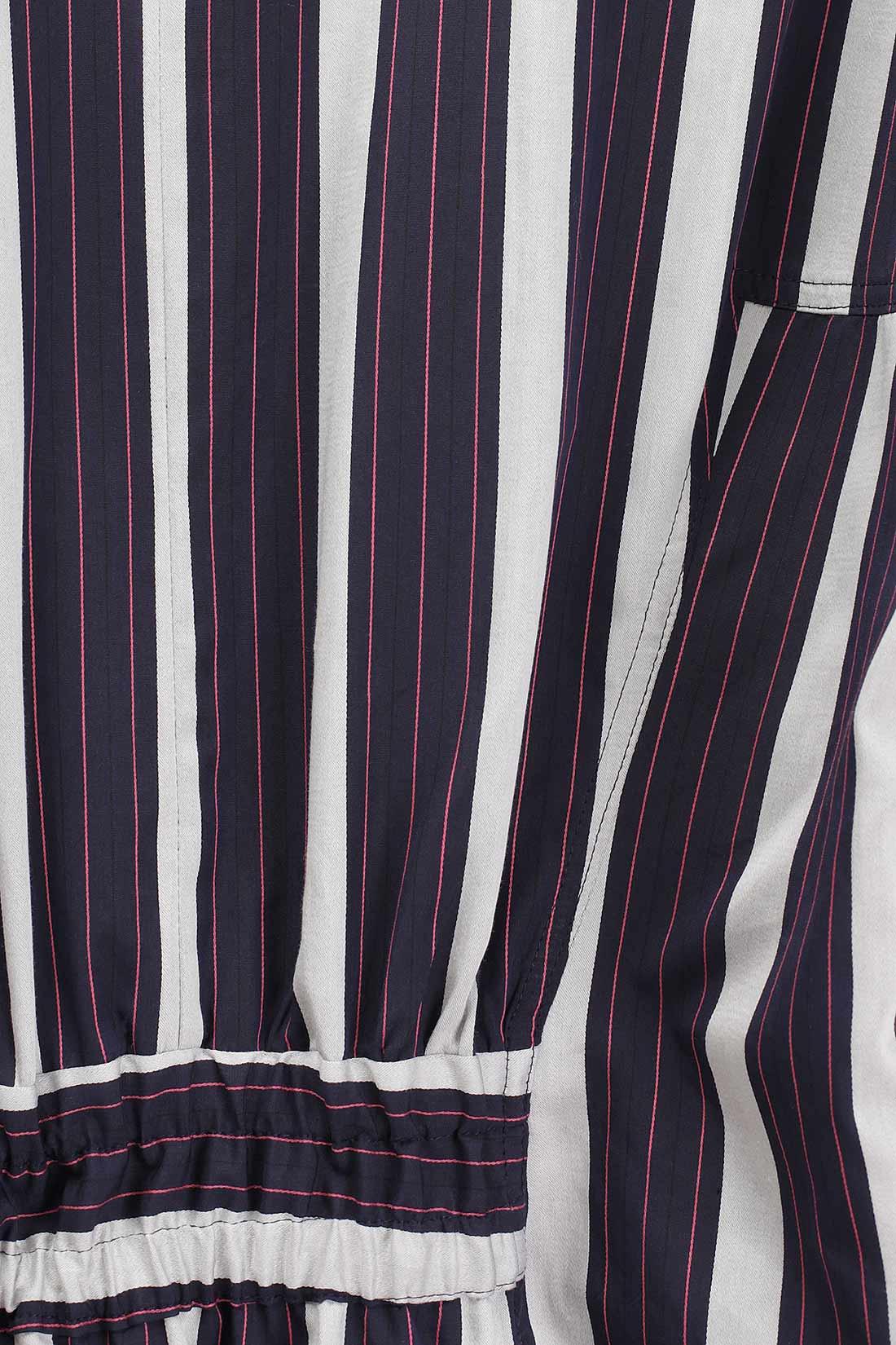 Maxikleid mit breiten Streifen aus leichter Baumwolle