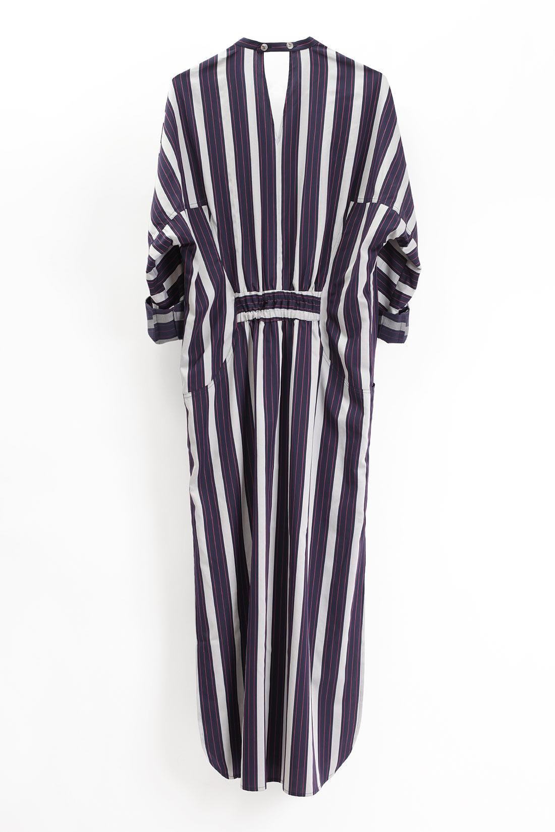 paula immich Maxikleid mit breiten Streifen aus leichter Baumwolle