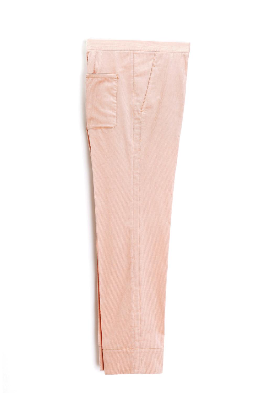 paula immich hose aus rosa farbenem cord